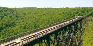 kinzua sky walk pennsylvania kinzua gorge nature trees