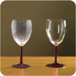 dishes glasses washed with tap water vs washed with conditioned water