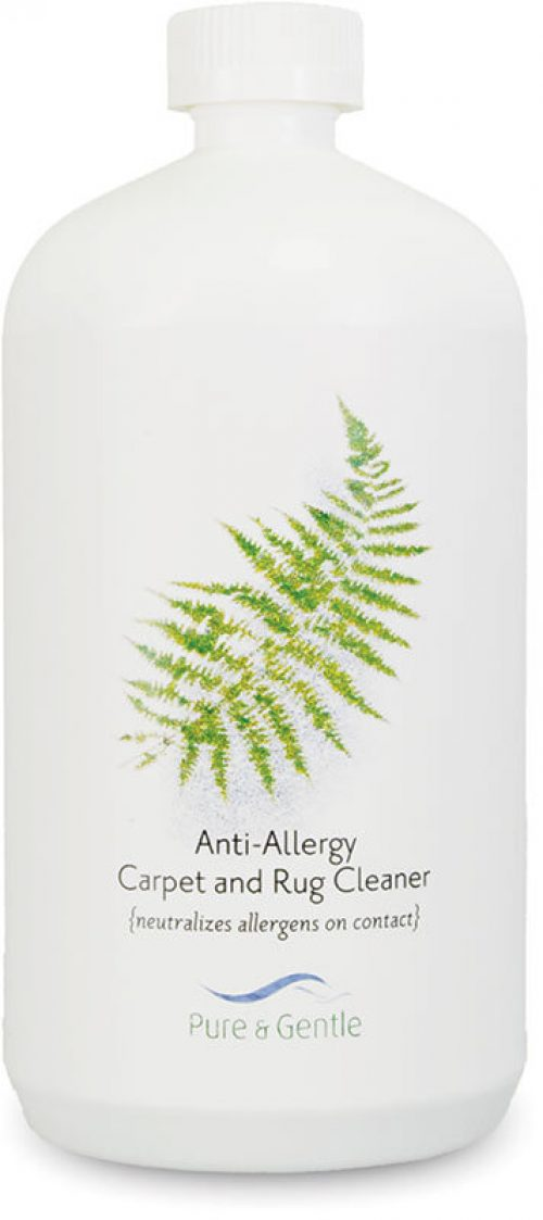 anti allergen carpet and upholstery shampoo bottle product image