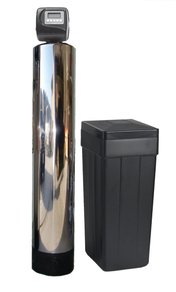 ws1-ss simple water softening tank reduces chlorine chloramine contaminants and hardness