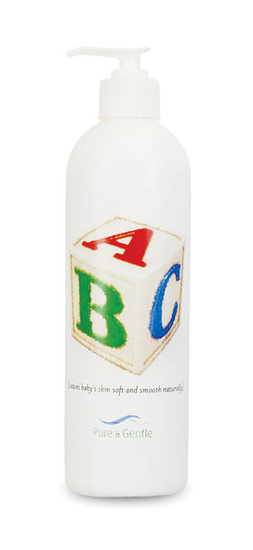 baby care lotion bottle product image