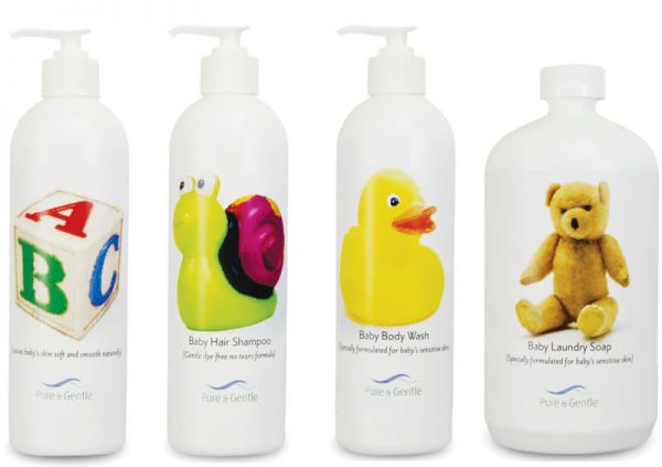 baby care package kit laundry hair shampoo body lotion bottles product images