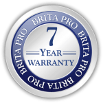 brita pro 7 year warranty icon badge