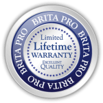 brita pro limited lifetime warranty excellent quality icon badge