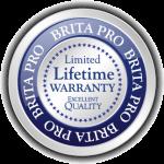 brita pro limited lifetime warranty excellent quality icon badge