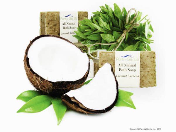 coconut verbena leaves beauty soap product image
