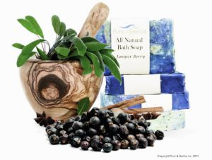 juniper berry and leaves with soap product image