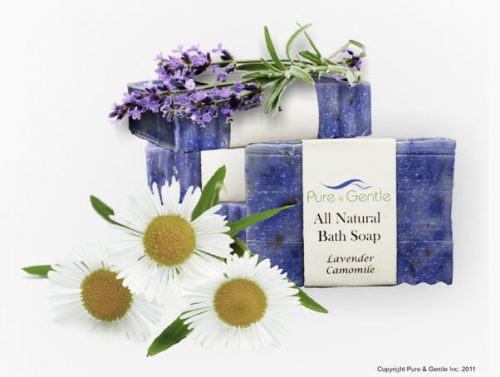 lavender camomile plants and soap product image