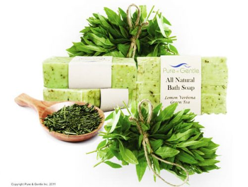 lemon verbena curshed leaves full bush soap product image