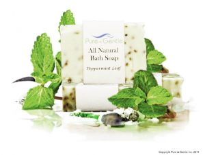 peppermint leaves bath soap product image