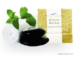 sandalwood bean leaf towel with soap product image