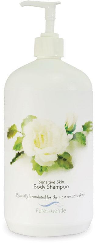 sensitive skin body shampoo bottle product image