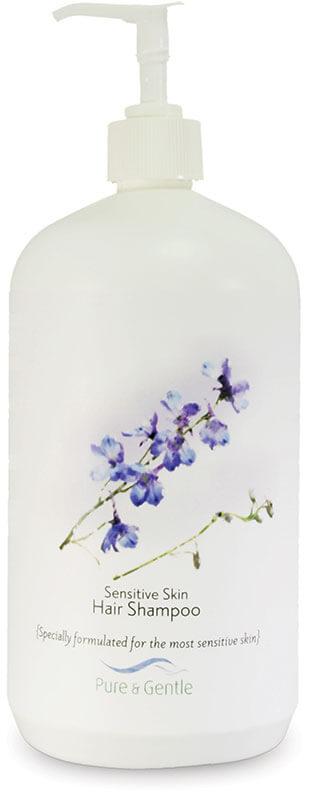 sensitive skin hair shampoo bottle product image