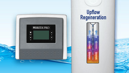 brita pro water neutralizer and filter with upflow regeneration control panel and water tank