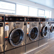 laundromat laundry machines chrome silver
