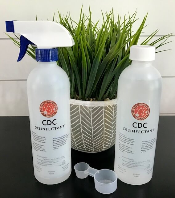 cdc disinfectant kit bottles pure and gentile