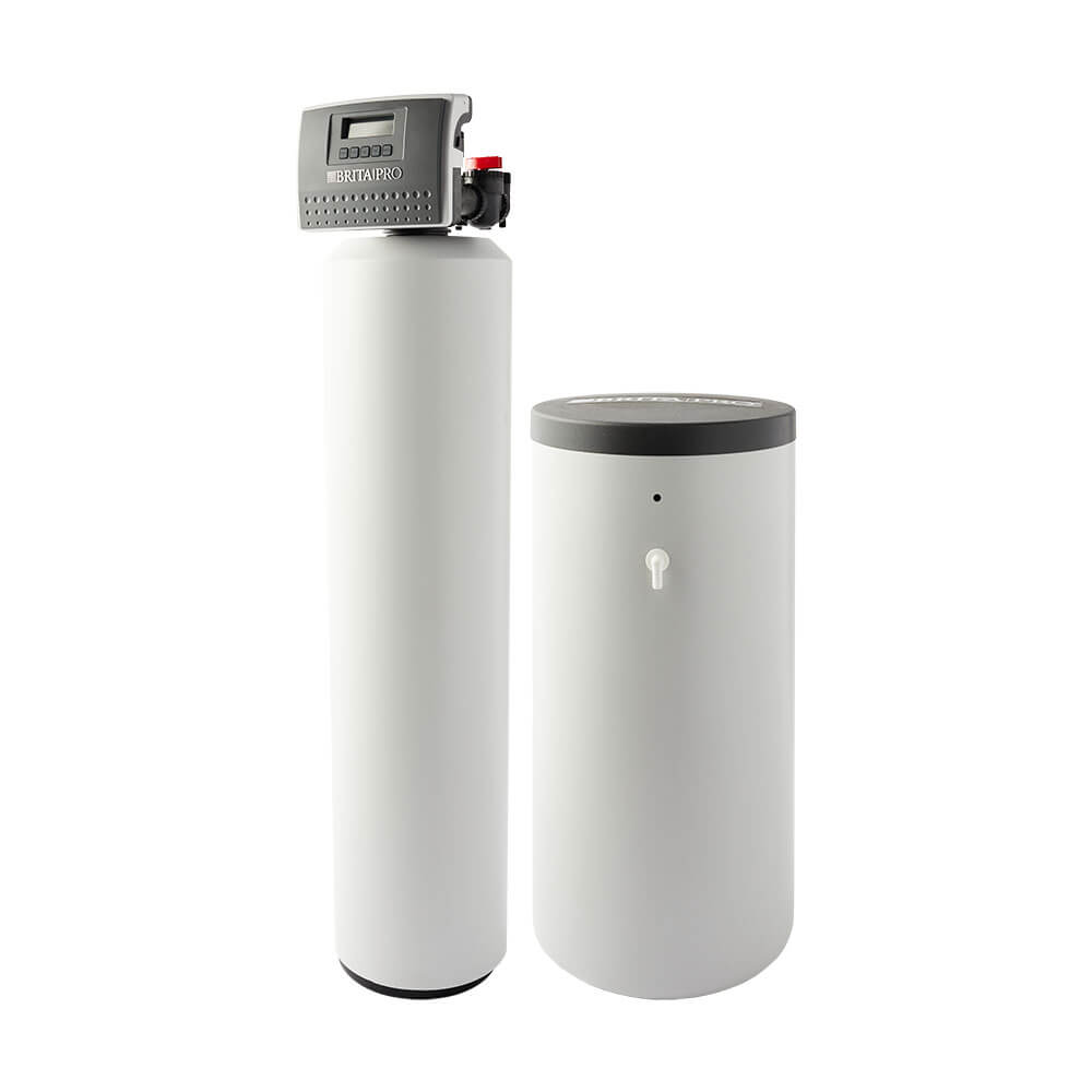 brita pro softener with brine tank filter reduces hardness with jacket left