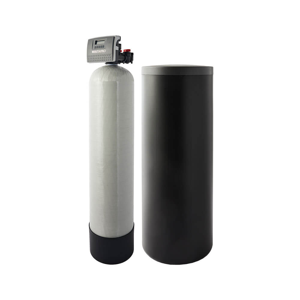 brita pro softener with brine tank filter reduces hardness without jacket left