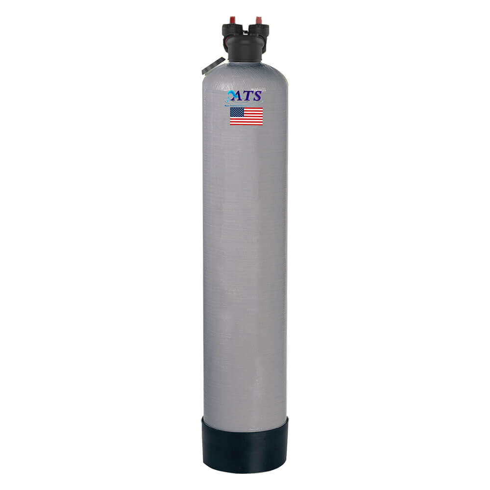 ats upflow point of entry poe whole home carbon filter gray black tank american flag